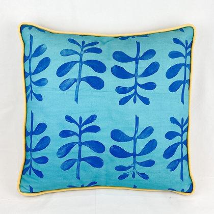Pillow, Blue Ferns