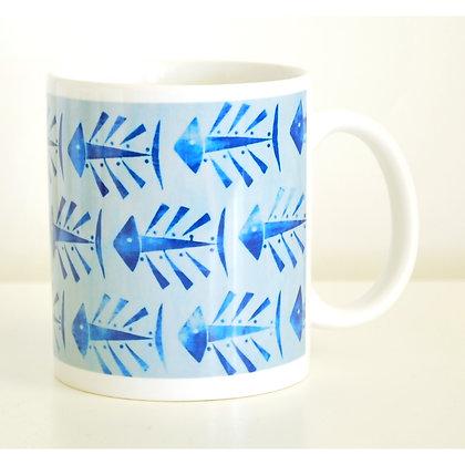 Mug, Blue Fish