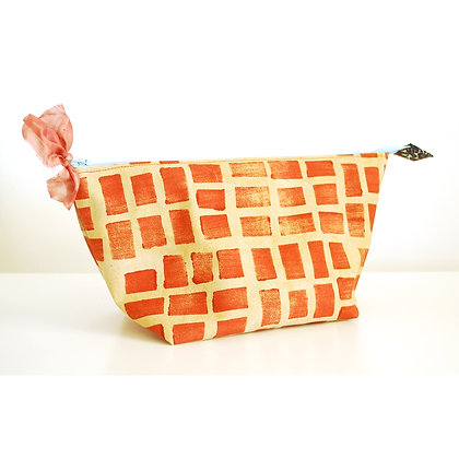 Pouch, Rust Rectangles