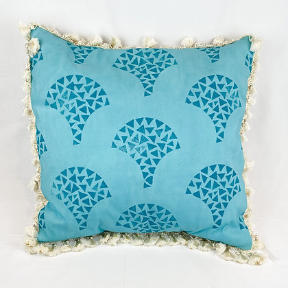 Pillow, Teal Scallops