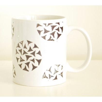 Mug, Black & White Allium