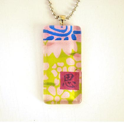 Necklace, Large Lavender Rectangle