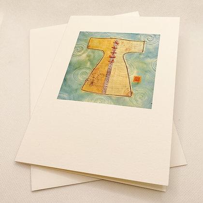 Notecard, Teal Kimono