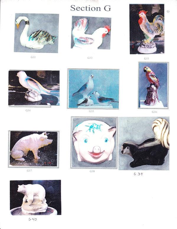 Statues animaux ( canard - moufette - pe