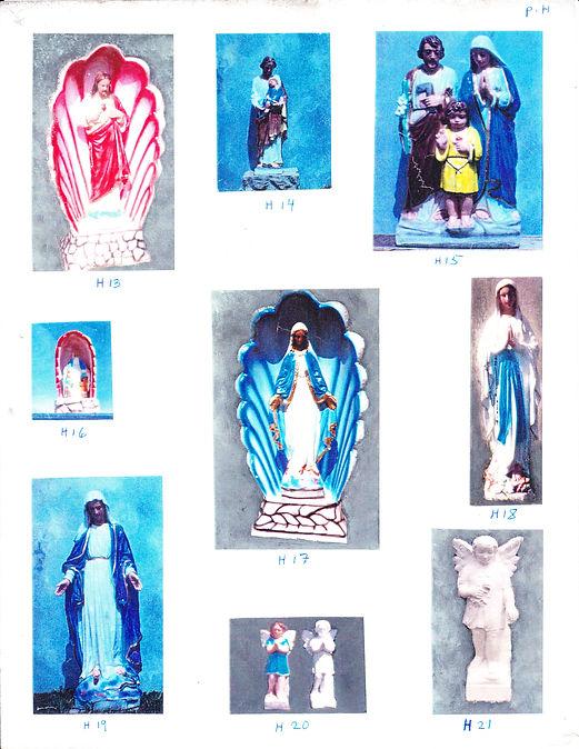 Statues religieuses (Sainte famille - St