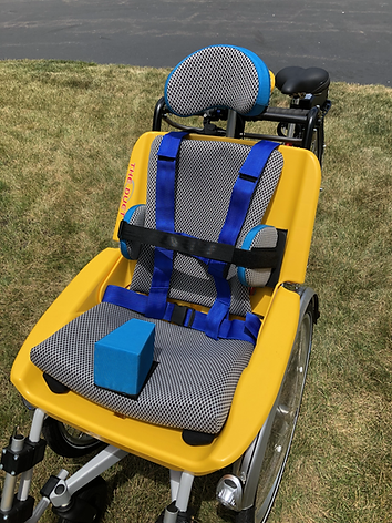 Duet Wheelchair Bicycle Tandem Smart Solutions Cushions - Custom Seating for the Duet Wheelchair Bicycle