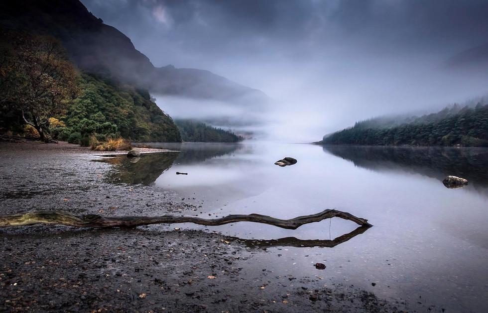 Glendalough foggy morning