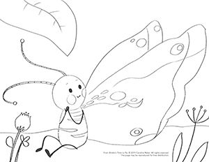 Binkle Coloring image for resources page