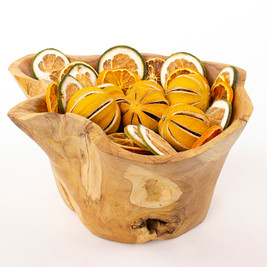 Wood Bowls and Fruit Slices