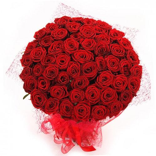 """Розы бордовые """"Ред Наоми"""" 50 см 75 шт."""