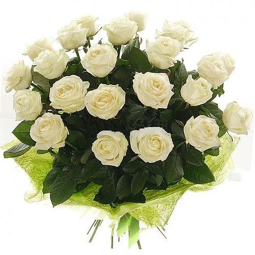 """Розы белые """"Аваланш"""" 50см 21 шт."""