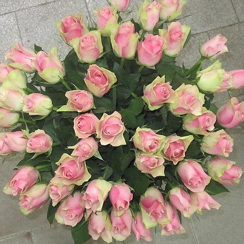 """Розы розовые """"Лабель"""" 40 см 51 шт."""