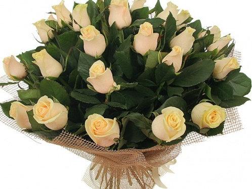 """Розы кремовые """"Талея"""" 50 см  25 шт."""