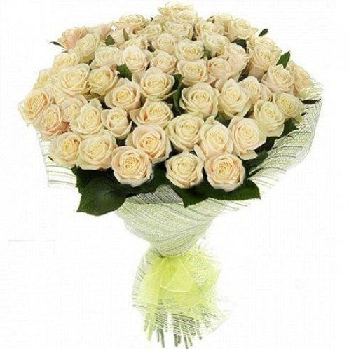 """Розы белые """"Аваланш"""" 50см 51шт."""