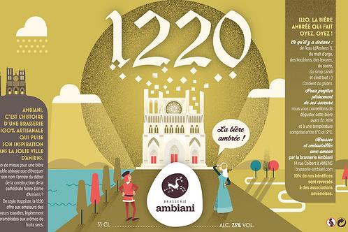 1220 - Bière Ambrée - 33cL