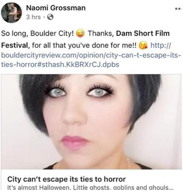 Actress Naomi Grossman's FB