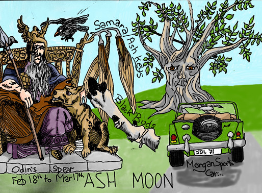 Sorry but I'm a tad late with my post about the Ash Moon: February 18th to March 17th