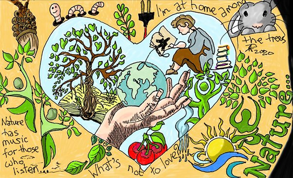 Illustrations for Earth Day by John Dalziel