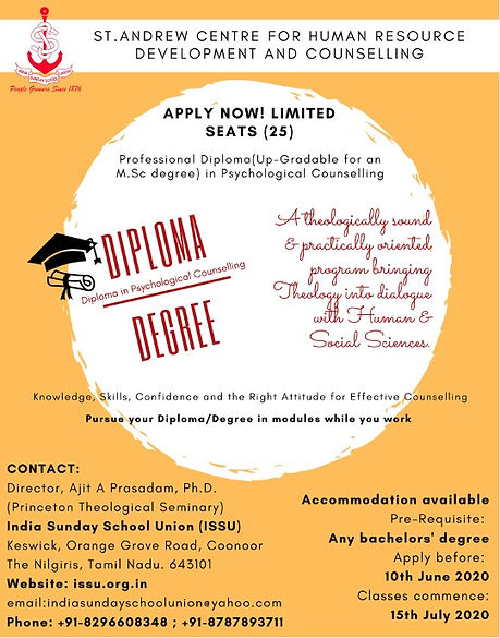 Convertible Diploma to M.Sc Degree in Couselling