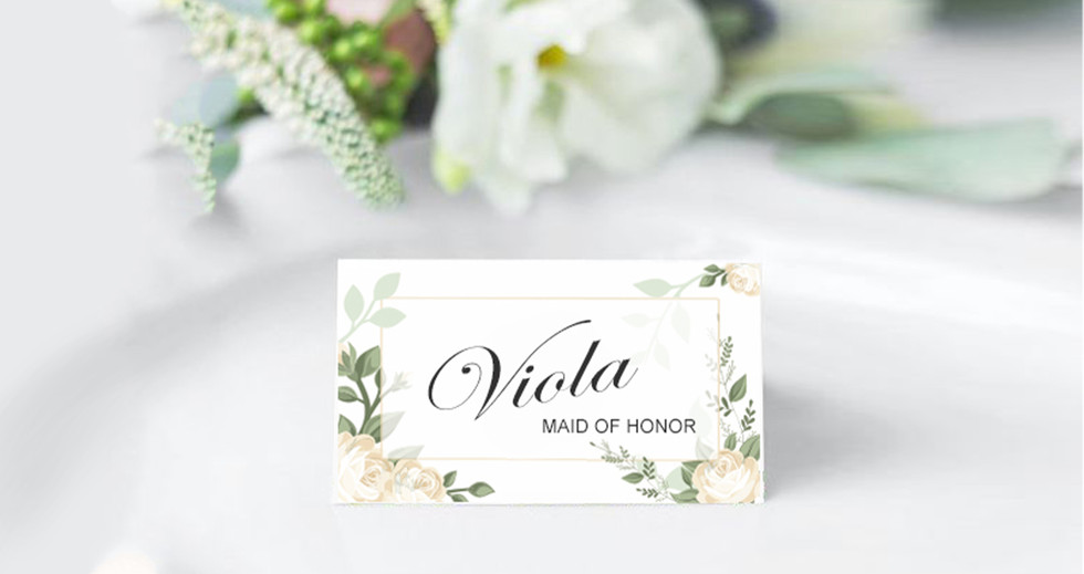 Special Ocassions Wedding Diner Place Card