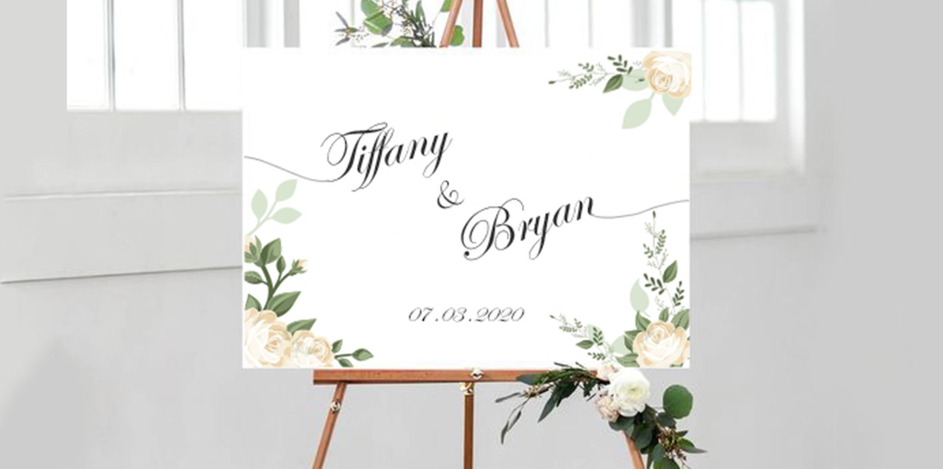 Special Ocassions Wedding Introducing Board