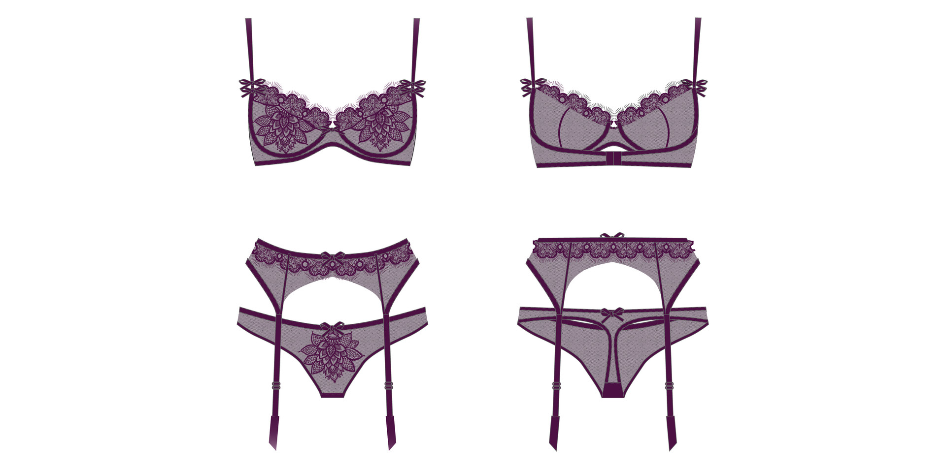 Illustrator Lingerie Set