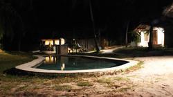 Drinks at bar and swimming pool