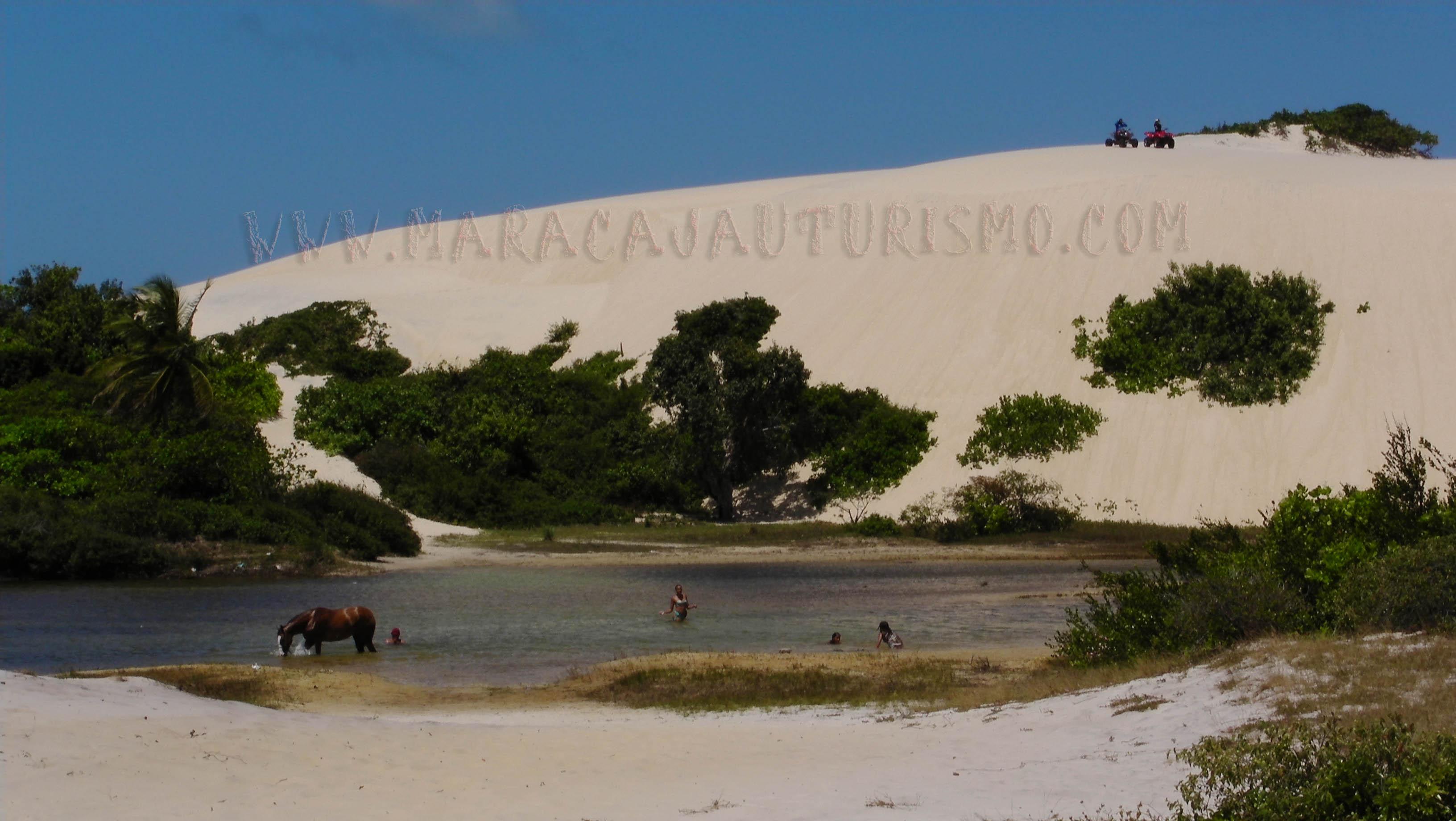 As lagoas naturais nas dunas