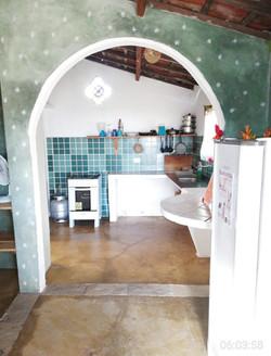Cozinha do chalé verde