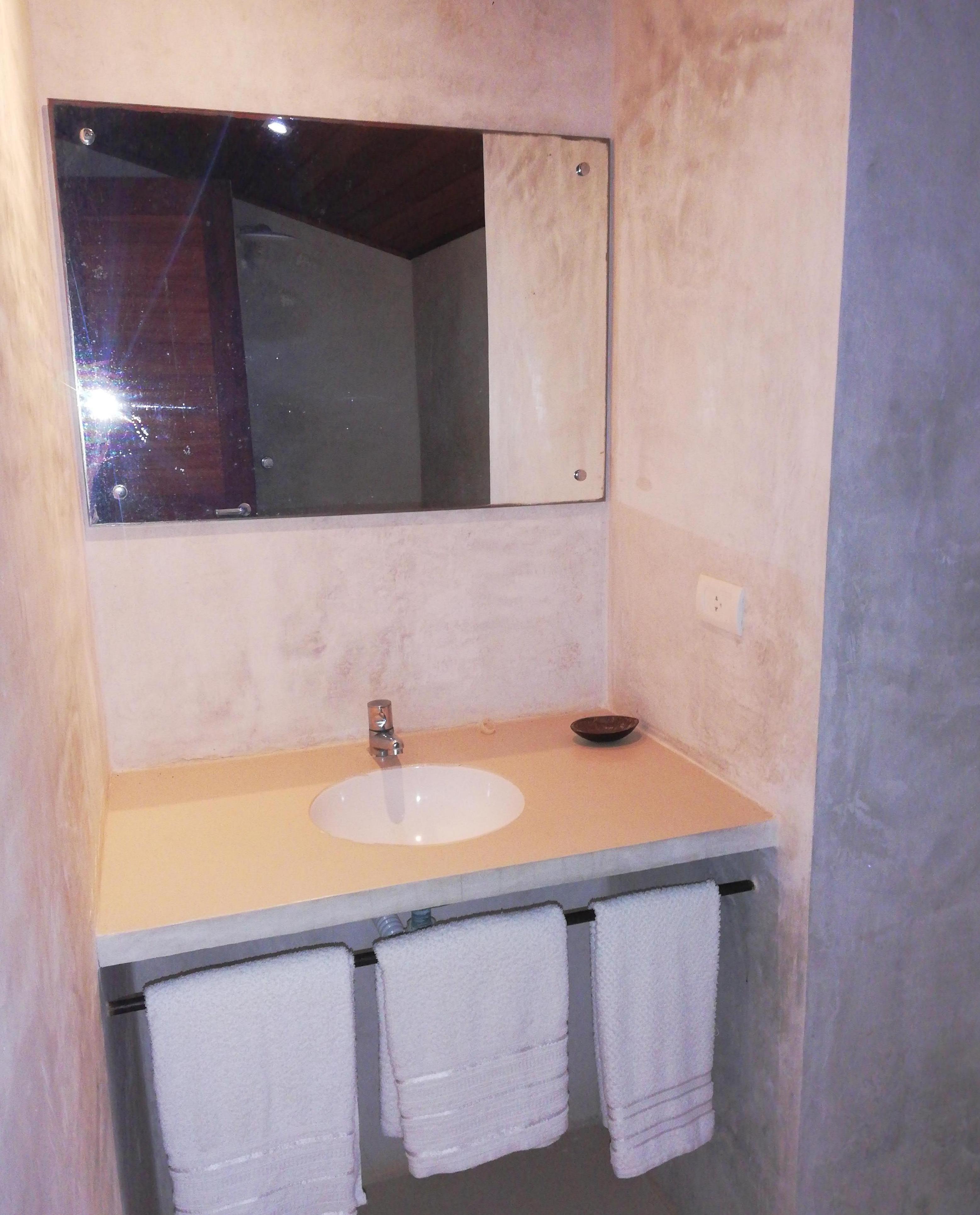 Todos os bangalôs com banho privado