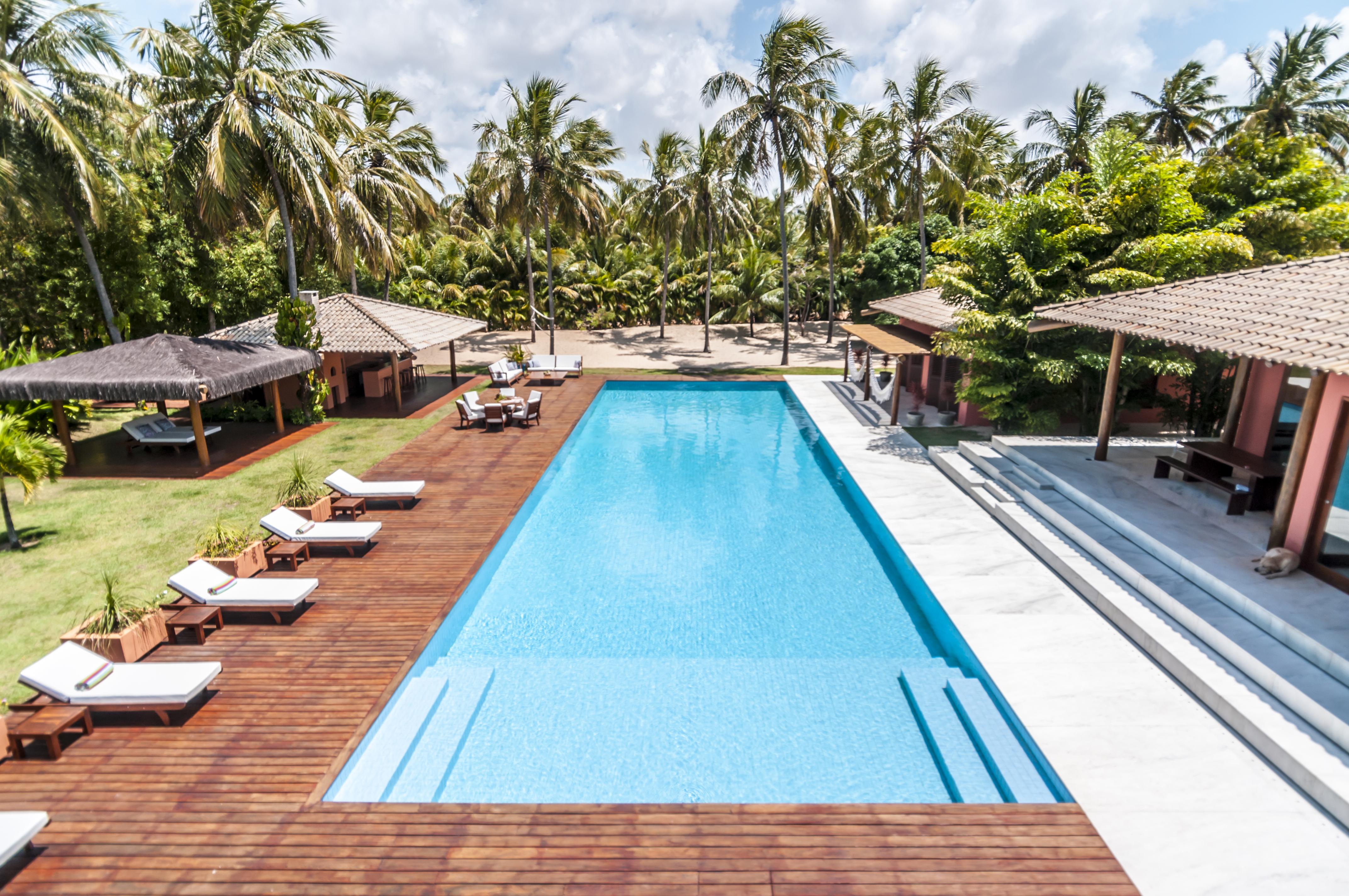 A piscina da Villa