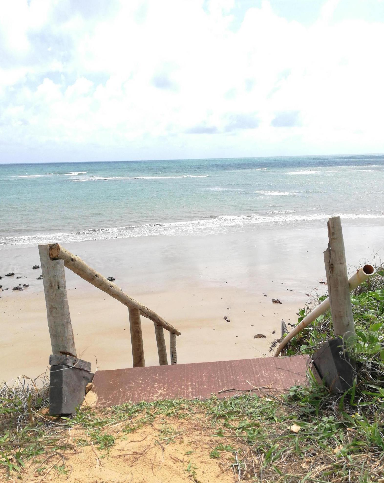Escala para descer na praia