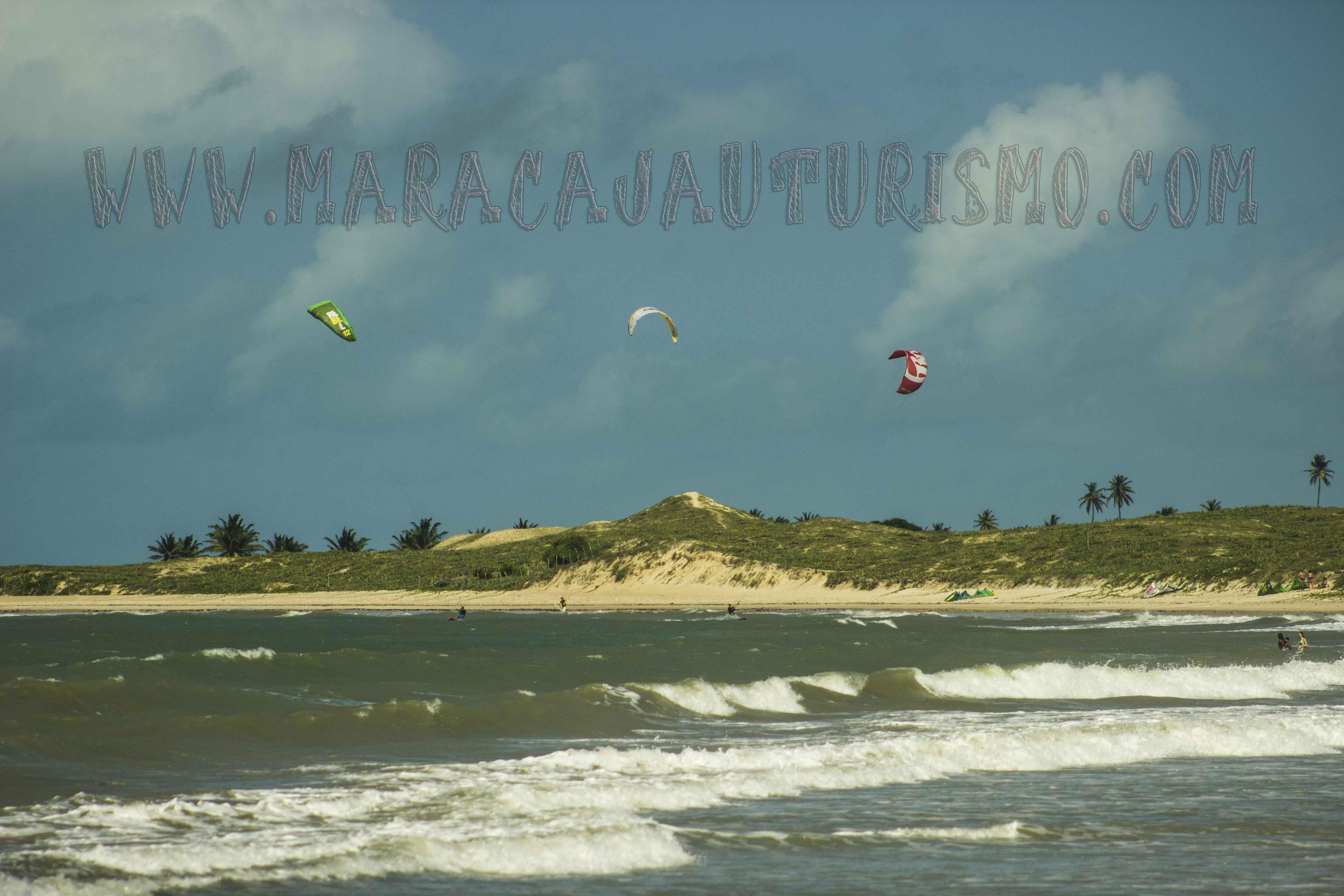 As praias de Maracajaú Kitesurf
