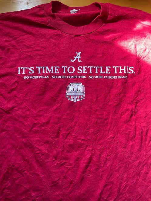 Alabama 2012 BCS vs LSU men's tee
