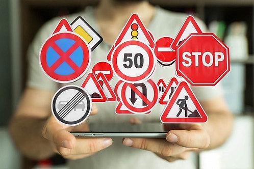 Préparation à l'examen du code de la route  sur internet en autonomie.