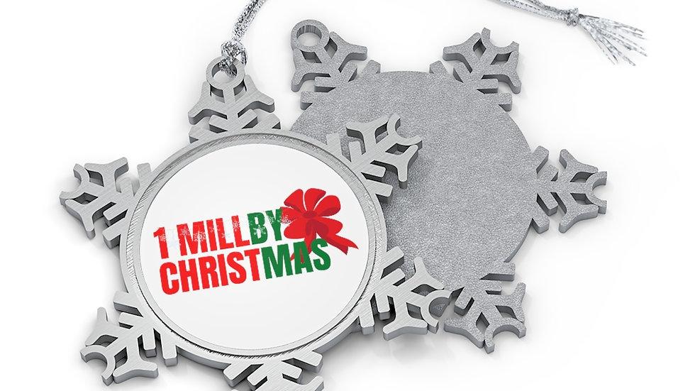 Pewter Snowflake Ornament