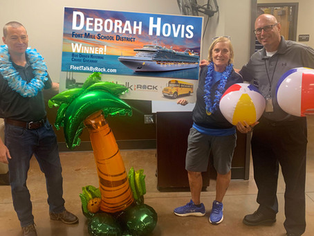 Fort Mill Schools bus driver wins $2,000 travel giveaway