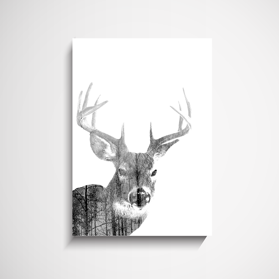 Winter Wall Art yorkelee wall art prints | home decor: australia | winter stag