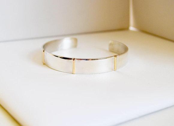 Split with Gold Cuff Bracelet