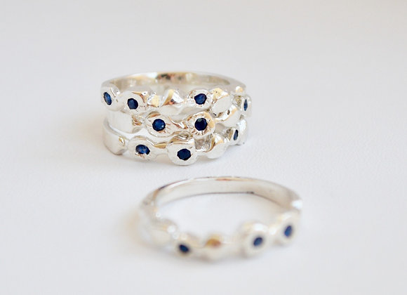 Rain Sapphire & Sterling Silver Ring