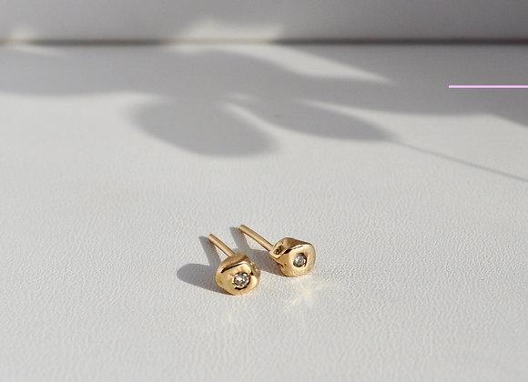Baby Rock Diamond Stud Earrings