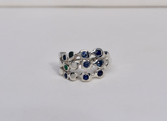 Silver Rockery Ring