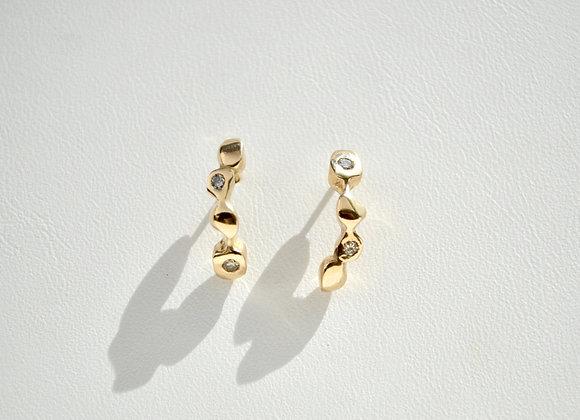 Rockery Diamond Earrings
