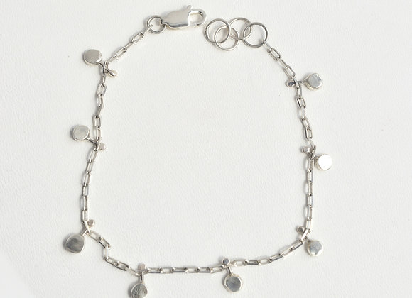 Silver Nugget Bracelet