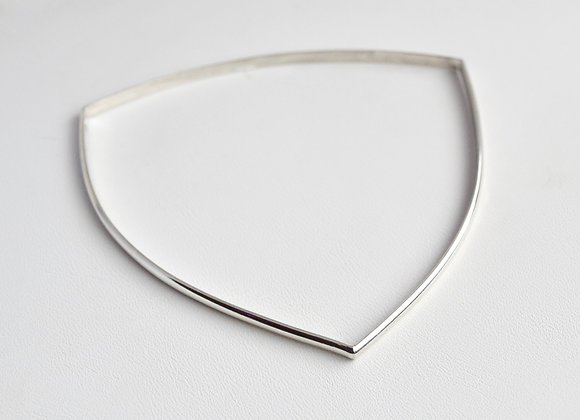 Triangular Sterling Silver Bangle Bracelet