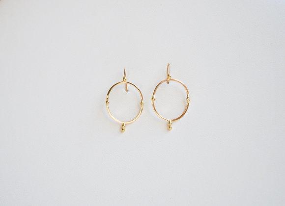 Oval Celestial Earrings