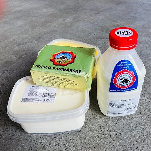 Mléčné výrobky - Farma Krhanice
