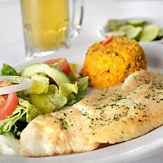 Filete de Pescado (A la Mantequilla, al gusto, al ajillo)