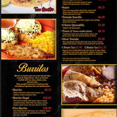 Traditional Mexican Food - Burritos
