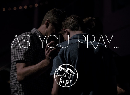 As you pray...